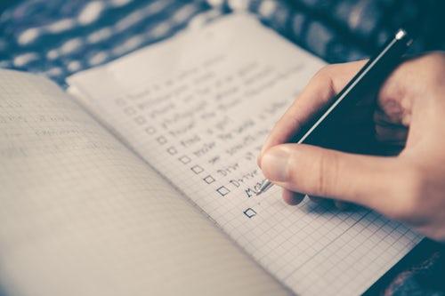 Checkliste Reiseliste